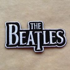 THE BEATLES ROCK BAND MUSIC EMBROIDERY IRON ON PATCH BADGE #BLACK WITH WHITE