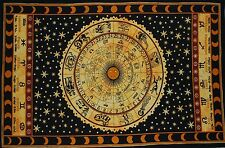 Indian Tapestry Zodiac Astrology Mandala Tapestry Throw Wall Hanging Bedspread