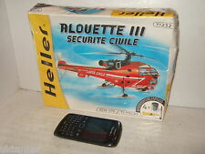 Heller Sealed Alouette 111, Securite Civile Model Kit & Craft set in 1:72 Scale