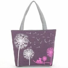 Fashion dandelion canvas bag flowers handbag shoulder bags messenger women bags