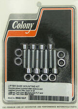 Harley 99-up TC88 Lifter Base Screw Kit Polished Allen Chrome Colony 9942-16-P