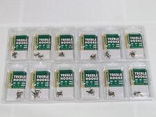 * TWELVE 4pk LAKER BRONZE TREBLE HOOKS sz 12 (12030-012) 22-C3 TK