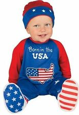 NEW Costume Baby''s First Halloween Patriot One-Piece Born in USA 0-6 Months