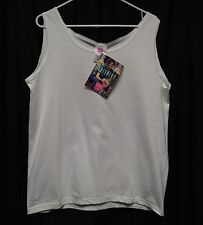 Womens Shirt Size L By Hanes Her Way White Tank Pull Over Sleeveless NWT Cotton