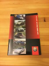 Alfa Romeo Range UK Car Brochure Price List 147, 156, 166, GTV, Spider, GTA 2004