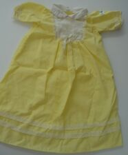 Yellow Nightgown Dressing Gown Cabbage Patch Kids CPK Outfit Baby Vtg White Lace