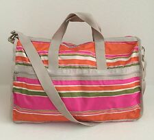 LESPORTSAC 2211 D415 Large Weekender Shoulder Bag Bahia Stripes $118 NWT