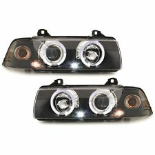 Angel Eyes Scheinwerfer Set BMW E36 Coupe / Cabrio schwarz SWB03B