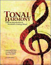 Workbook for Tonal Harmony 7th * Free Shipping to USA & Euro & Aus *