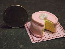 Dollhouse Miniature Pink Cake on Placemat E 1:12 inch scale G10 Dollys Gallery