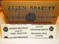 50 Allen Bradley Carbon Comp Resistors 220k 1/4 watt 10%