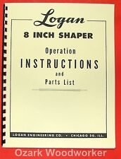 LOGAN Metal Shaper 8 inch Instruction & Parts Manual 0464