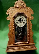 Antique Ansonia style ATTELBORO CLOCK CO. 1890-1915 Kitchen Clock w chime/alarm.