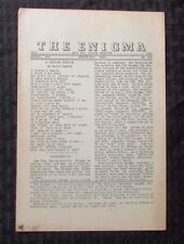 1954 THE ENIGMA Puzzle Fanzine #605 VG 4.0 Crosswords Cryptograms 8pgs