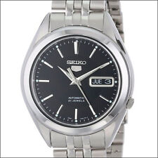 Seiko 5 Black Dial Automatic Watch, 38mm Stainless Steel Case, Bracelet #SNKL23