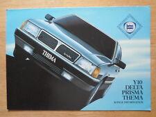LANCIA GAMMA ORIG 1985-86 UK inchiostri SALES BROCHURE-Y io DELTA PRISMA THEMA
