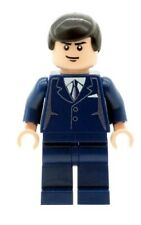 Custom Minifigure Bruce Wayne (Batman) Navy Suit Printed on LEGO Parts