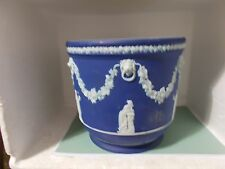 Large Antique Wedgwood Blue Jasper Ware Jardiniere - The Muses (pre 1860)