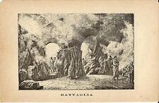 Stampa antica BATTAGLIA TERME GROTTE colle Sant'Elena Padova 1885 Old print