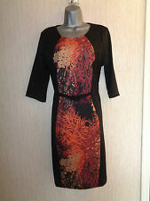 BNWT Ladies Size 12 Pomodoro 3/4 Sleeved Knee Length Patterned Dress RRP £95
