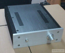 Aluminum power amplifier enclosure / chassis / case with side heatsink slot 2107