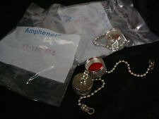 2 Lot Amphenol 83-1AC-RFX Cap & Chain UHF SO-239 PL-259 Low Cost Protective Cap