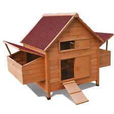 Henhouse Hen House Chicken Coop Pet Cage Breeder Rabbit Hutch Animal New