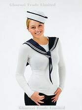 Sexy Navy Sailor Girl Kit Scarf & Hat  Instant Ladies Fancy Dress Outfit DS119