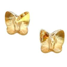 SCU628sp GOLDEN SHADOW 13mm Faceted Lg Hole Butterfly Swarovski Crystal Bead 2pk