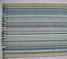 "NEWPORT 13"" x 36"" Cotton Beach House Table Runner Blue, Green, Beige, White"