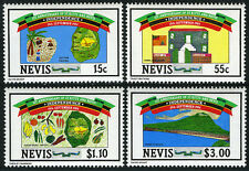 Nevis 379-382, MNH. Independence of St.Kitts and Nevis, 1st anniv. 1984