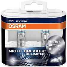 H1 OSRAM DUO-BOX (2 Stk) NIGHT BREAKER UNLIMITED # 12 V 55 W # 110%