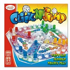 TOYRIFIC CLICK N JUMP FAMILY FUN GAME AGE 4+ FRUSTRATION LUDO 4 PLAYER DICE GAME