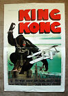 Vintage Original 1980s KING KONG Movie Poster 1sh Hollywood film art classic