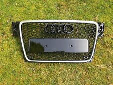 Audi A4 B8 RS4 Style Front Grill Grille S4 Brushed Alu 2008-2011 **UK STOCK**