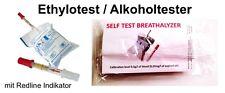 2x jetables alcool testeur alcool Ethylotest de NF-certifié France