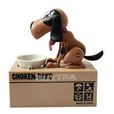 Choken Puppy Hungry Eating Dog Coin Bank Money Saving Box Piggy Bank Present Hot