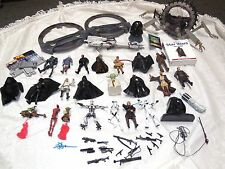 vtg lot star wars figures weapons vehicle field guide wheels barc speeder
