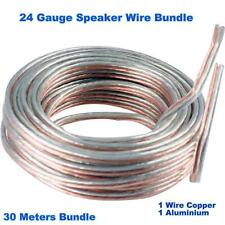 24 AWG Speaker Wire 30 Meter Bundle For 5.1, 7.1  Home Theater Music System