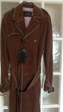 £3500 NWT  Men Dsquared Brown Goatskin  Double Breasted Coat Size  48