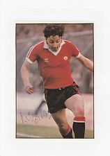MICKEY THOMAS MANCHESTER UNITED 1978-1981 ORIGINAL SIGNED MAG PICTURE CUTTING