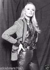 vintage GIANNI VERSACE black cowgirl studded leather shirt w/ metal tips size 44