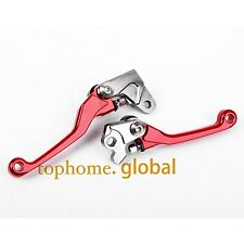 CNC Pivot Clutch Brake Levers For Honda CR125R CR250R 1992-2003 Red Pair T6061