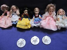 Vintage Lot of 6 Bebe World Dolls Crown Princess 1986 Excellent Condition EUC