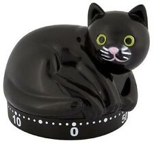 Pylones French Design Black Cat Kitchen Timer Countertop Decoration Kitty Kitten