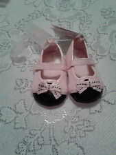 NWT GYMBOREE OODLES OF POODLES PINK BLACK FAUX PATENT LEATHER CRIB SHOES SIZE 1