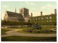 A3 Size Victorian View of Cambridge Jesus College Old Photos Vintage Poster NEW