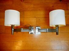 A pair of Visual Comfort Direct Wire Wall Mount Swing Arm Brushed Chrome Lamps