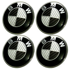 4 x 68mm Fits BMW Carbon Fibre Centre Caps - Hub, Alloy Wheel Badge 1 3 5 6 7 X