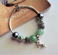 """AUTHENTIC PANDORA Bracelet 7.5"""" STERLING + Designed Unicorn Magic Gift Set"""